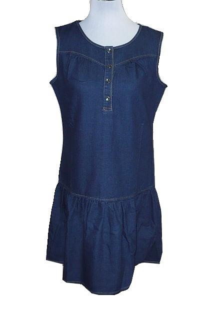 0309e7a6555 Dámské riflové šaty tm.modré vel.L