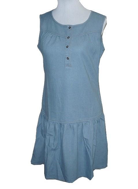 da16b2e45eac Dámské riflové šaty sv.modré vel.M